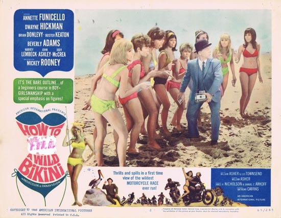 HOW TO STUFF A WILD BIKINI 1965 US Lobby card 2 Annette Funicello