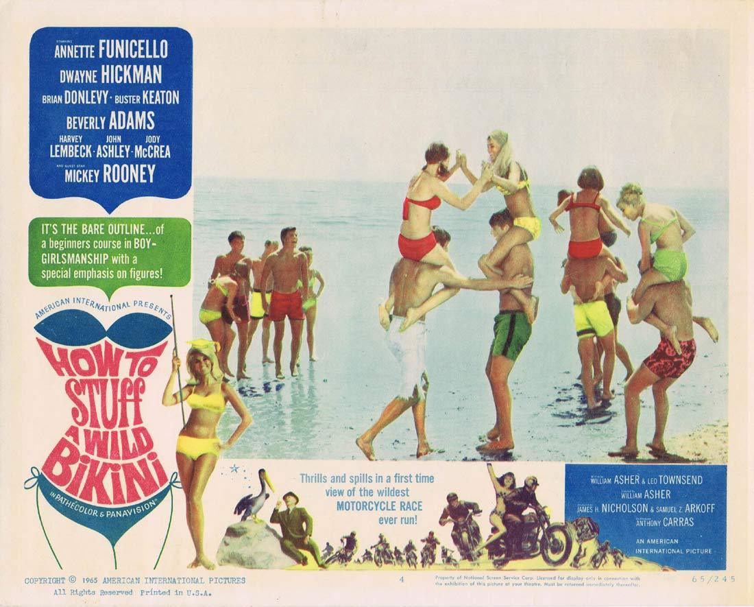 HOW TO STUFF A WILD BIKINI Original Lobby Card 4 Annette Funicello Dwayne Hickman
