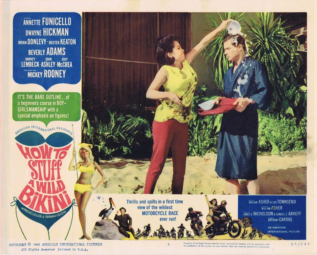 HOW TO STUFF A WILD BIKINI Original Lobby Card 6 Annette Funicello Dwayne Hickman