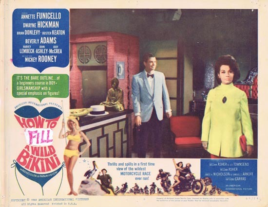 HOW TO STUFF A WILD BIKINI 1965 US Lobby card 8 Annette Funicello
