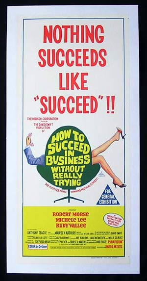 HOW TO SUCCEED IN BUSINESS WITHOUT REALLY TRYING '67-Morse-LINEN BACKED Movie poster
