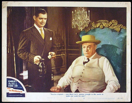 THE HUCKSTERS Lobby Card 2 Clark Gable Deborah Kerr