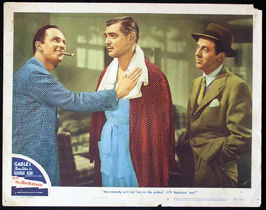 THE HUCKSTERS Lobby Card 3 Clark Gable Deborah Kerr