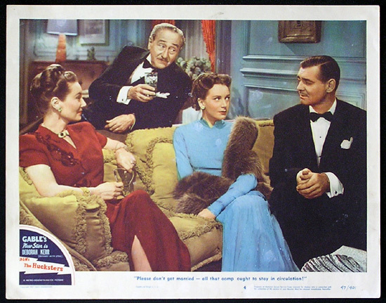 THE HUCKSTERS Lobby Card 4 Clark Gable Deborah Kerr