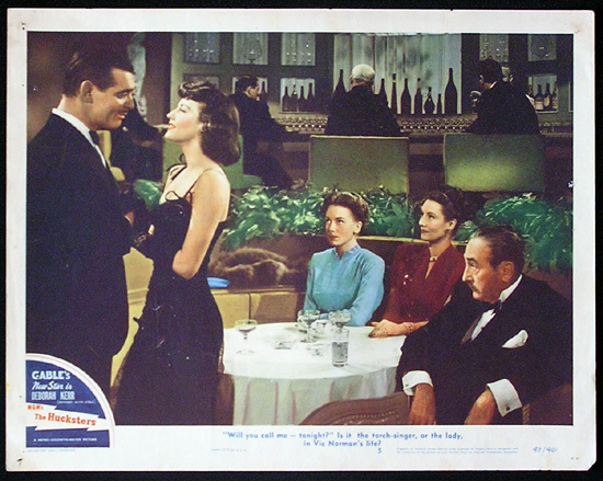 THE HUCKSTERS Lobby Card 5 Clark Gable Deborah Kerr