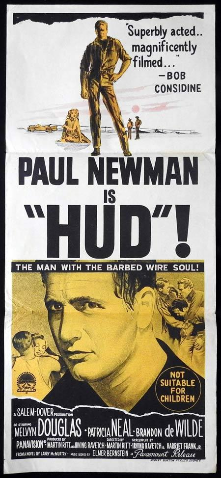 HUD Daybill Movie Poster Paul Newman Melvyn Douglas Patricia Neal