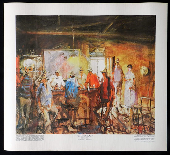 HUGH SAWREY In Murphy's Pub Roma Queensland Australian Art RARE Print