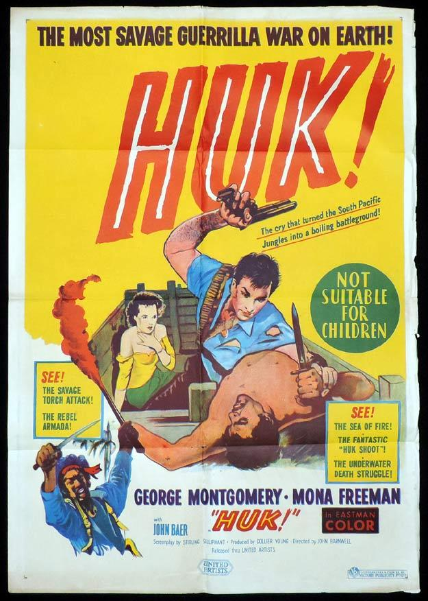 HUK One Sheet Movie Poster Stirling Sillipant George Montgomery