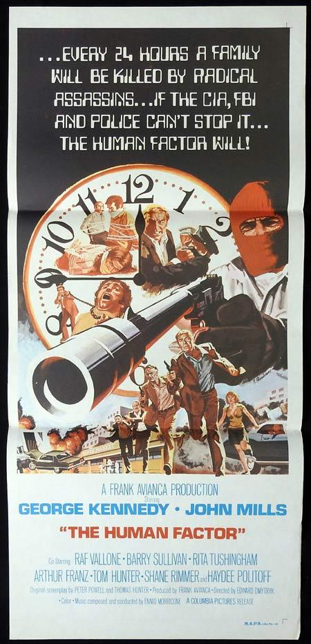 THE HUMAN FACTOR Original Daybill Movie Poster George Kennedy John Mills