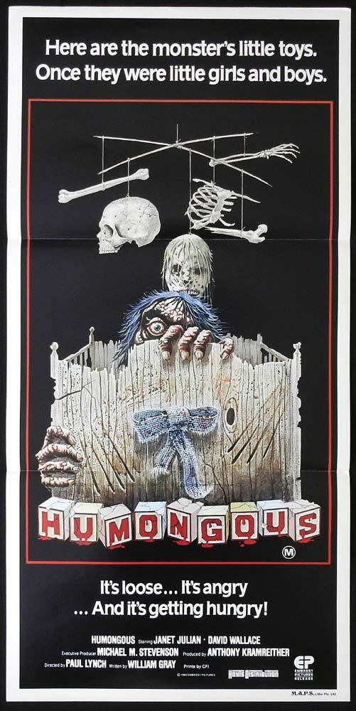 HUMONGOUS Original Daybill Movie Poster Janet Julian Horror David Wallace