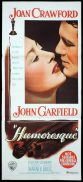 HUMORESQUE Original Daybill Movie Poster Joan Crawford