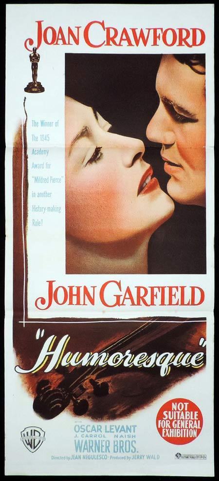 HUMORESQUE Original Daybill Movie Poster Joan Crawford