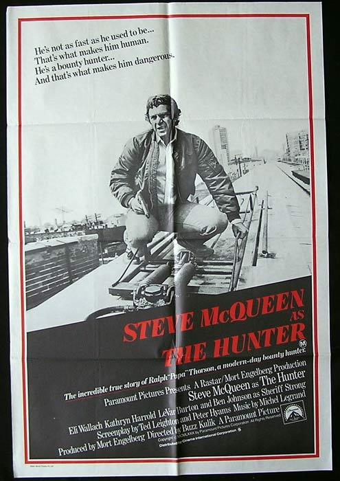 THE HUNTER Original One sheet Movie poster Steve McQueen