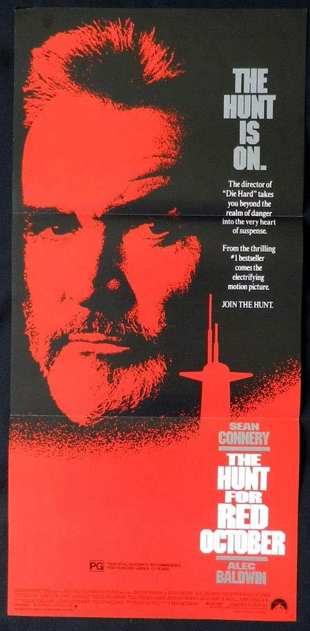 HUNT FOR RED OCTOBER Sean Connery Australian Daybill Movie poster