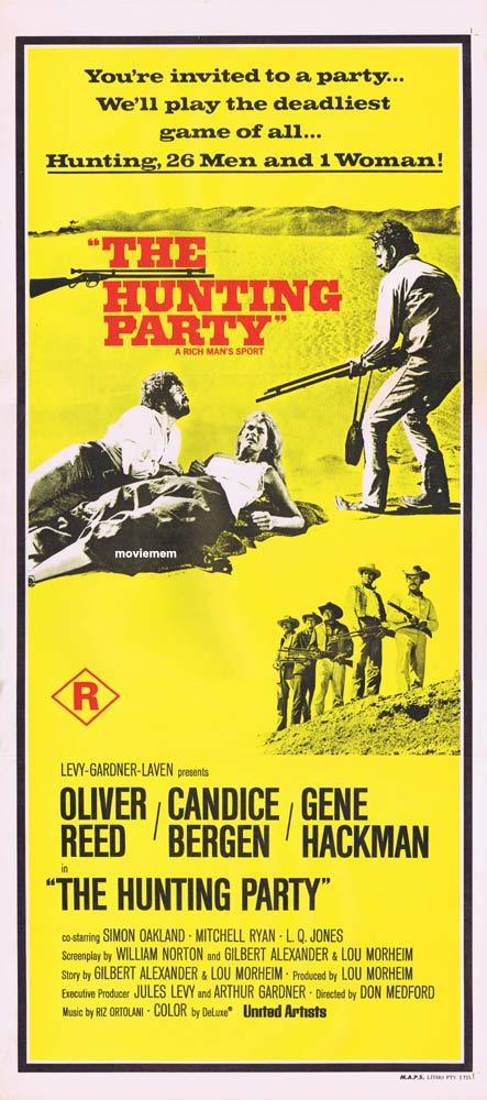 THE HUNTING PARTY Original Daybill Movie Poster Candice Bergen Gene Hackman