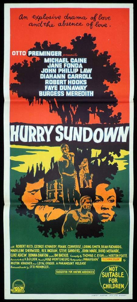HURRY SUNDOWN Original Daybill Movie Poster Michael Caine Otto Preminger