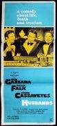 HUSBANDS Australian Daybill Movie poster Ben Gazzara John Cassavetes Peter Falk