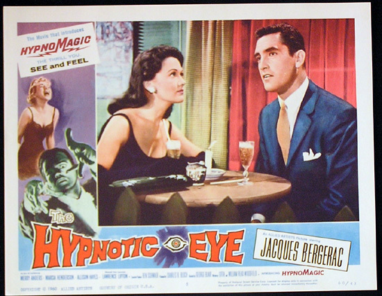 THE HYPNOTIC EYE Lobby card 5 1960 Jacques Bergerac HYPNOMAGIC