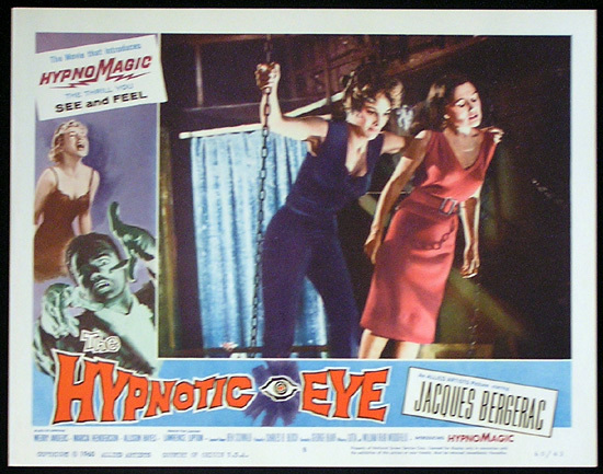 THE HYPNOTIC EYE Lobby card 8 1960 Jacques Bergerac HYPNOMAGIC