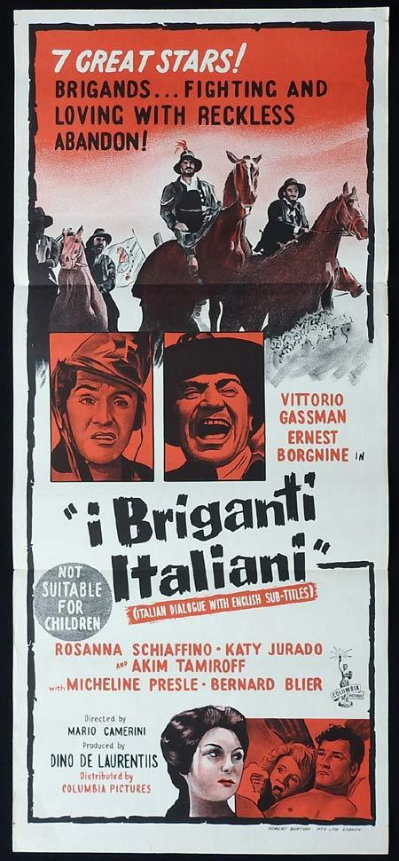 I BRIGANTI ITALIANI Original Daybill Movie Poster Spaghetti Western