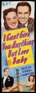 """I CAN""""T GIVE YOU ANYTHING BUT LOVE BABY Long Daybill Movie poster Peggy Moran"""