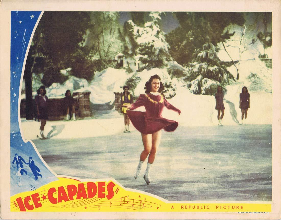 ICE CAPADES Original Lobby Card 2 Dorothy Lewis Ice Skating