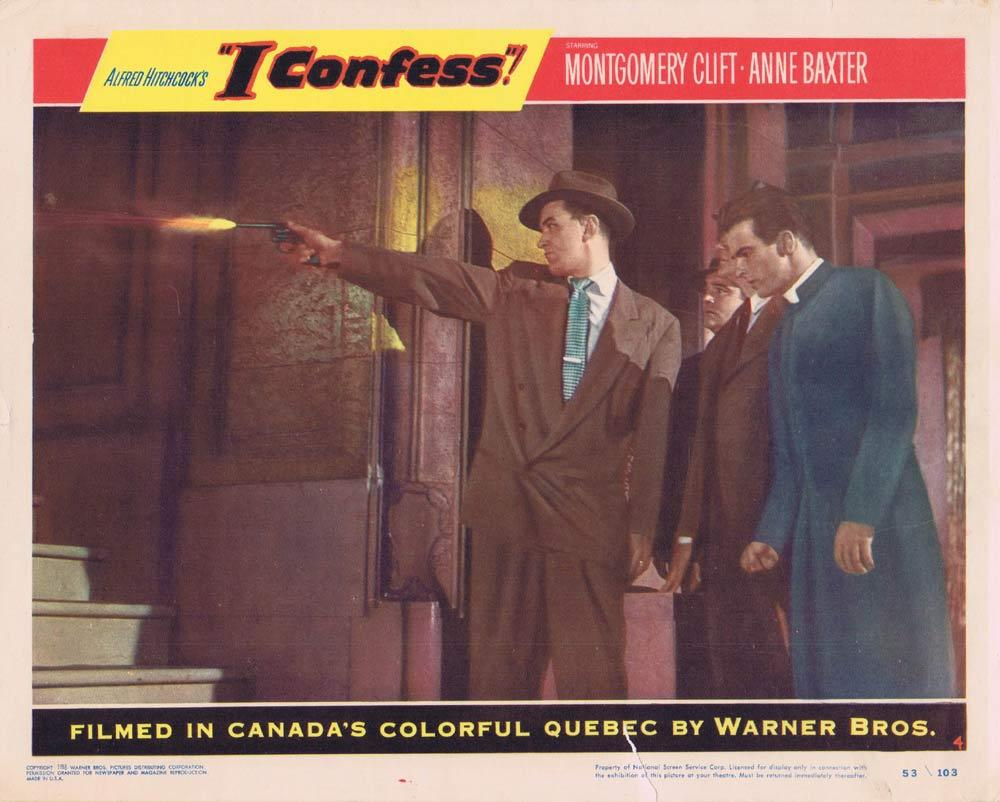I CONFESS Lobby card 4 1953 Montgomery Clift Alfred Hitchcock