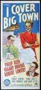I COVER BIG TOWN Original Daybill Movie Poster PHILLIP REED Hillary Brooke Richardson Studio