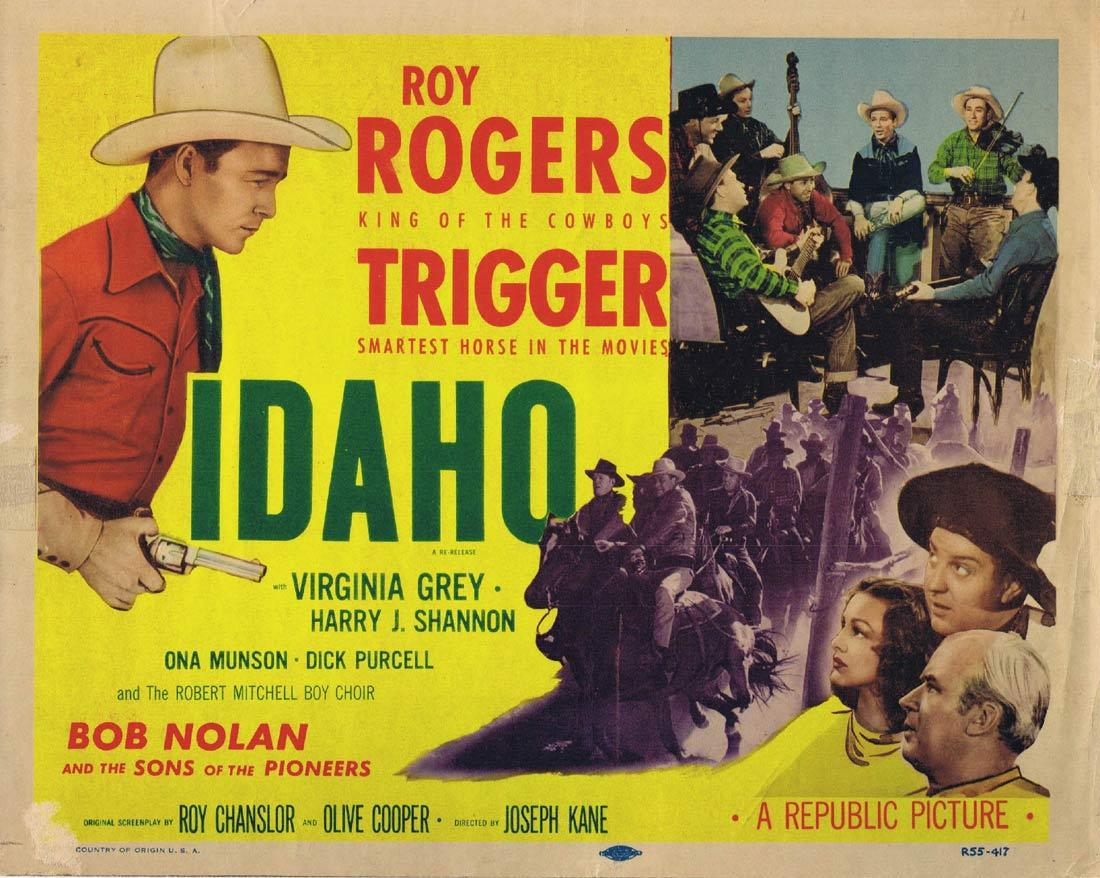 IDAHO Original Title Lobby Card Roy Rogers VIrginia Grey 1955r
