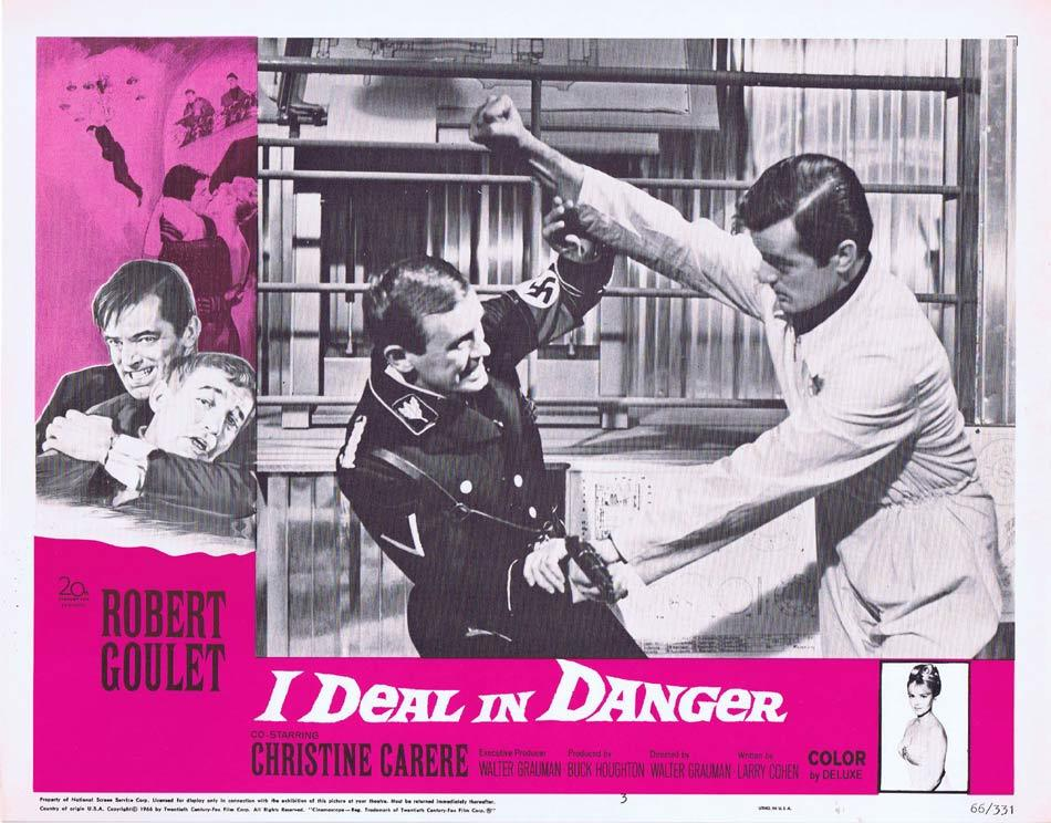 I DEAL IN DANGER Lobby Card 3 Robert Goulet Christine Carère