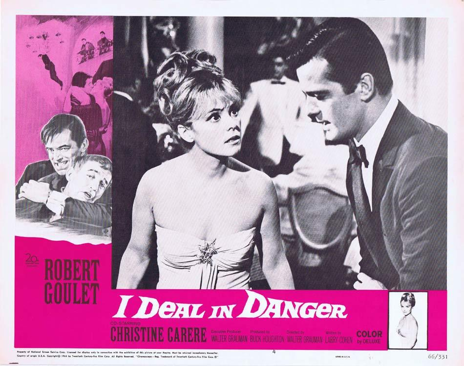 I DEAL IN DANGER Lobby Card 4 Robert Goulet Christine Carère