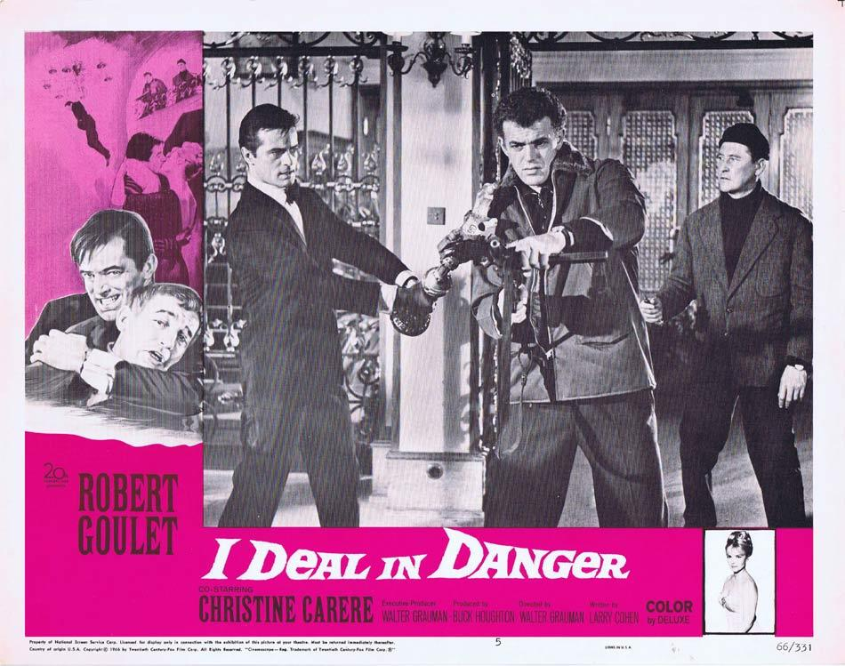 I DEAL IN DANGER Lobby Card 5 Robert Goulet Christine Carère
