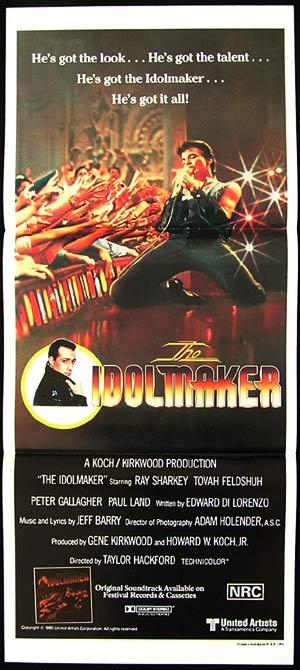 THE IDOLMAKER daybill Movie poster Ray Sharkey