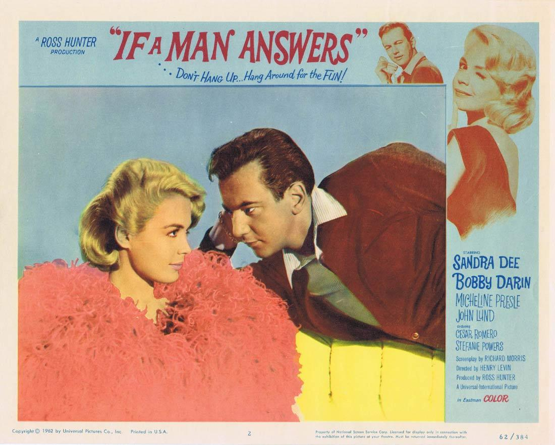 IF A MAN ANSWERS Lobby Card 2 Sandra Dee Bobby Darin