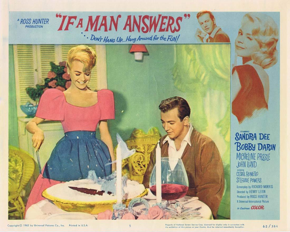 IF A MAN ANSWERS Lobby Card 5 Sandra Dee Bobby Darin