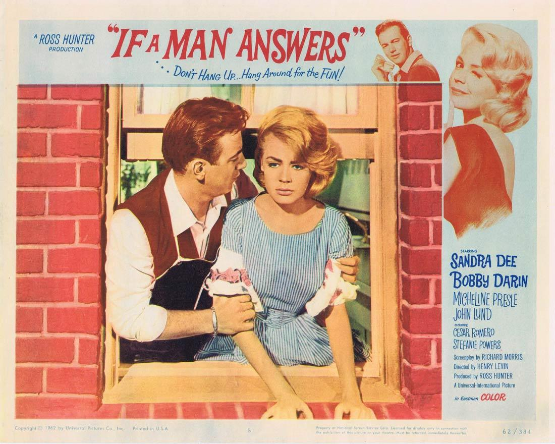 IF A MAN ANSWERS Lobby Card 8 Sandra Dee Bobby Darin