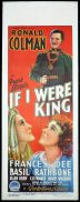 IF I WERE KING Long Daybill Movie poster 1938 Ronald Colman