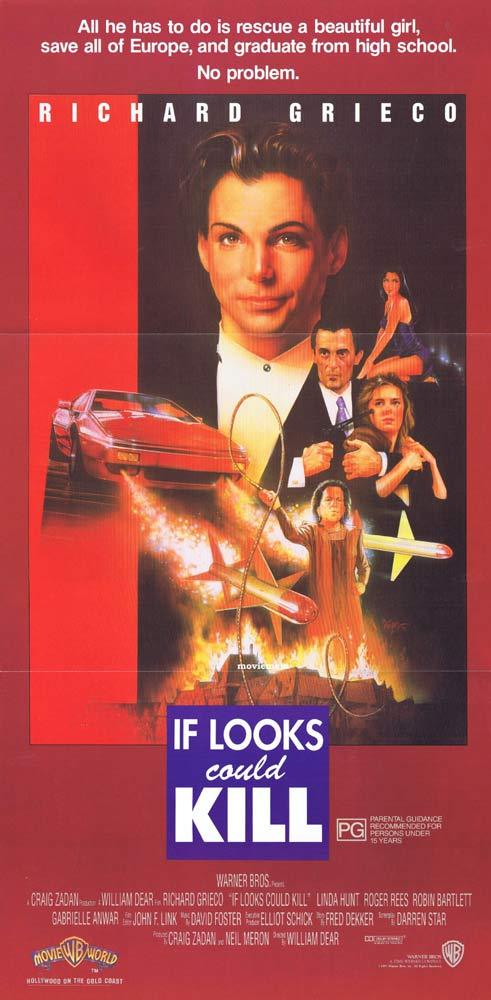 IF LOOKS COULD KILL aka TEEN AGENT Original daybill Movie Poster Richard Grieco