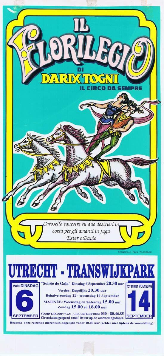 IL FLOREGIO Original Circus Poster Utrecht c.1990s