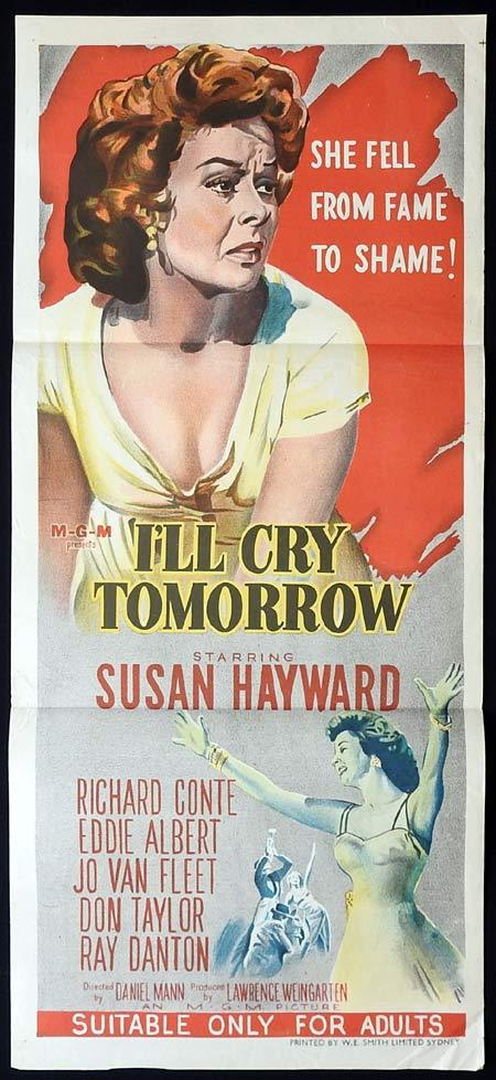 I'LL CRY TOMORROW Original Daybill Movie Poster