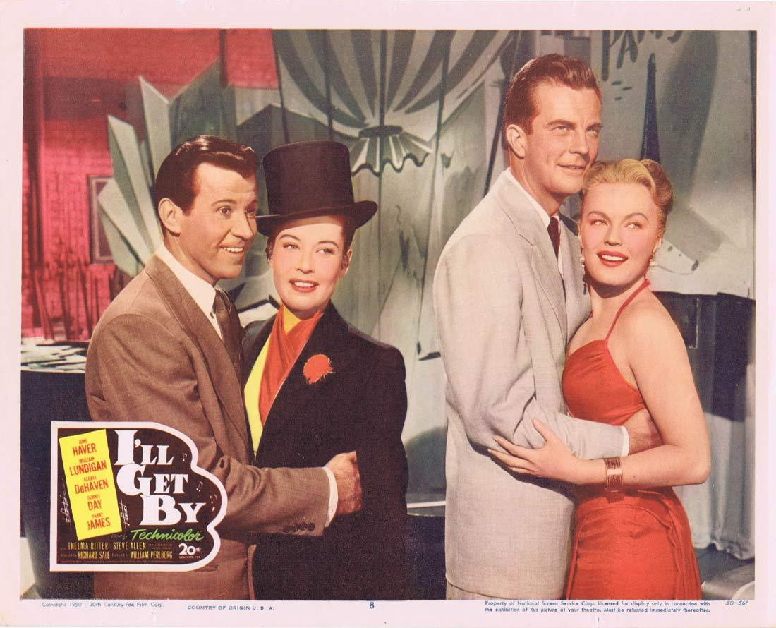 I'LL GET BY Original Lobby Card June Haver William Lundigan Gloria DeHaven