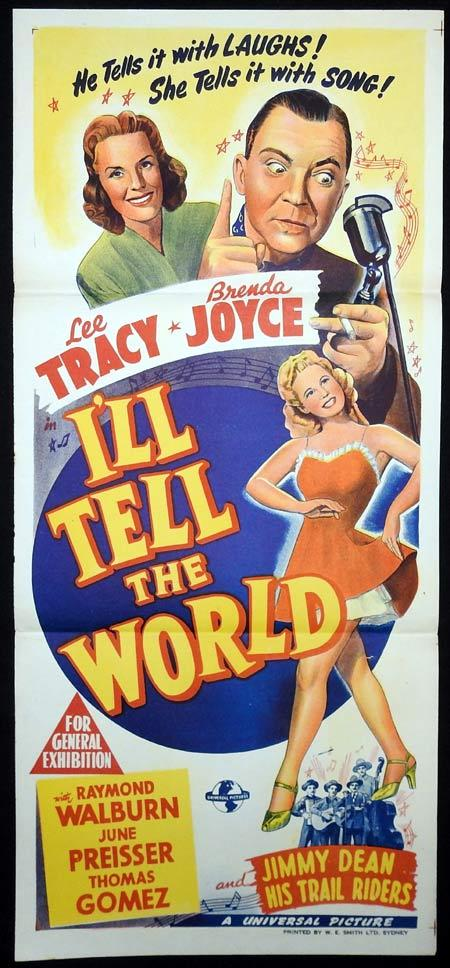 I'LL TELL THE WORLD Original Daybill Movie Poster