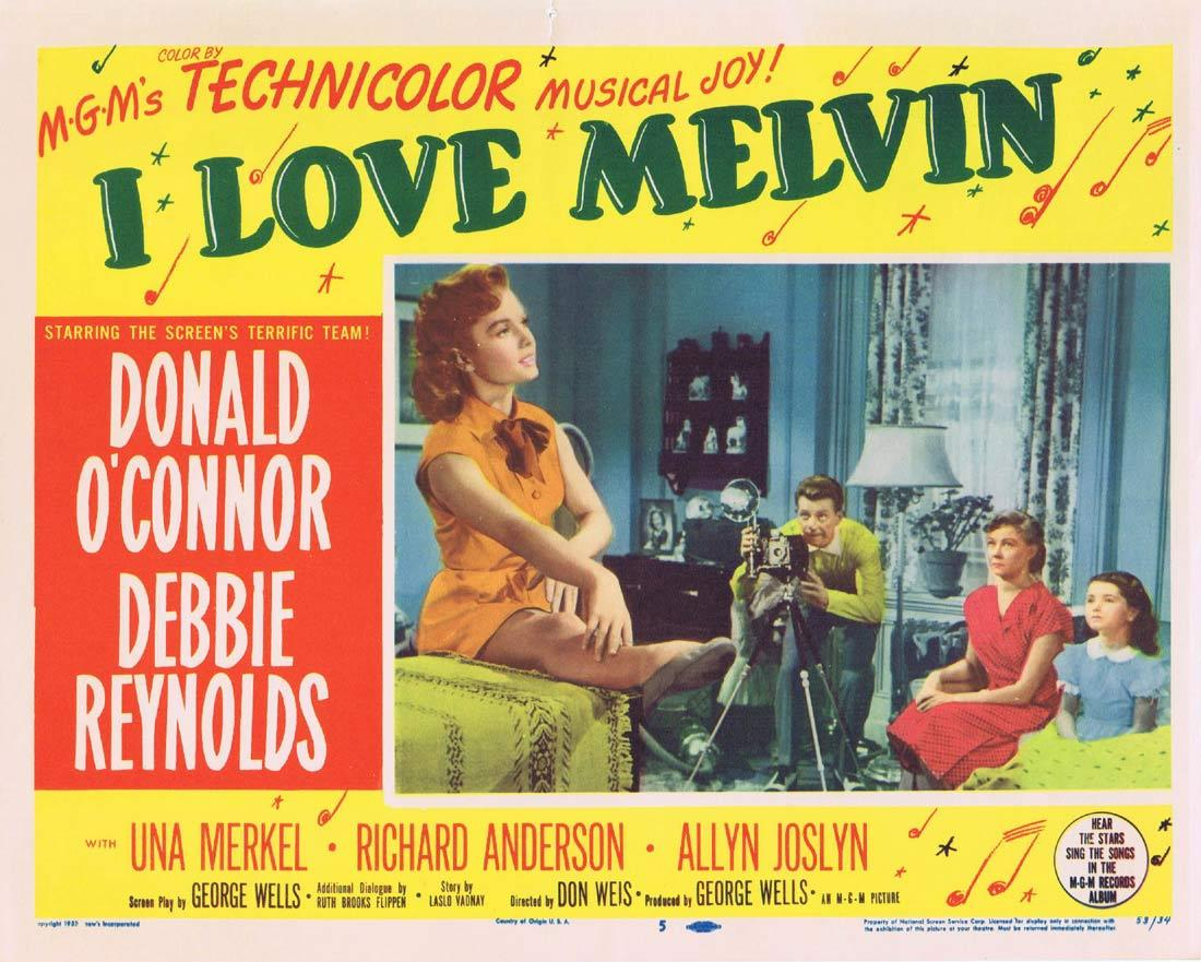 I LOVE MELVIN Movie Lobby Card 5 Donald O'Connor Debbie Reynolds