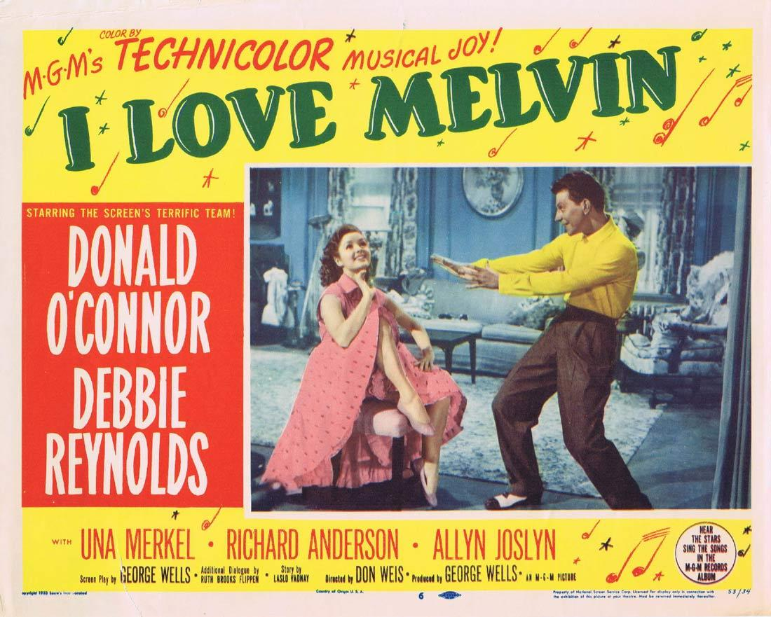 I LOVE MELVIN Movie Lobby Card 6 Donald O'Connor Debbie Reynolds