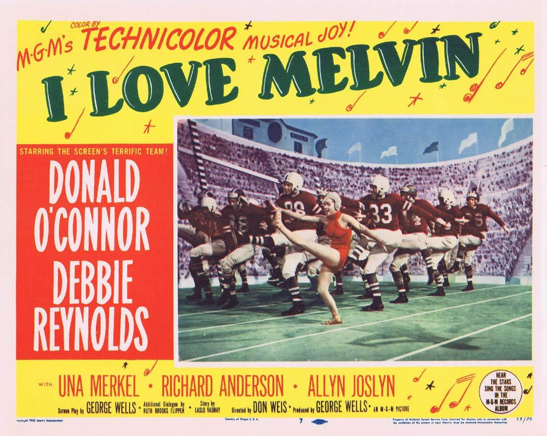I LOVE MELVIN Movie Lobby Card 7 Donald O'Connor Debbie Reynolds