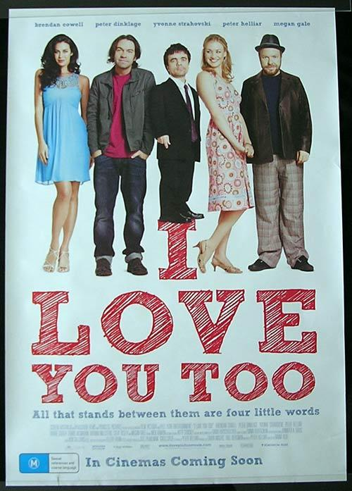 I LOVE YOU TOO Movie poster 2010 Peter Hellier Megan Gale