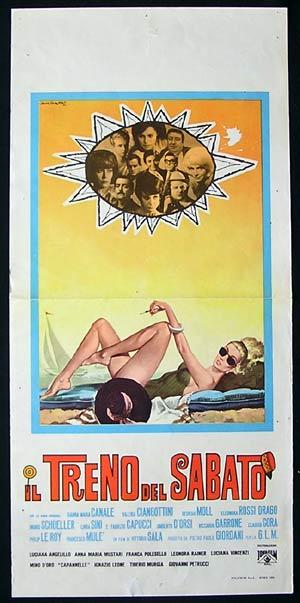 IL TRENO DEL SABATO Original Locandina Movie Poster Gasparri Art