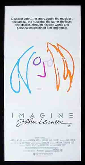 IMAGINE '88-John Lennon art ORIGINAL Beatles poster