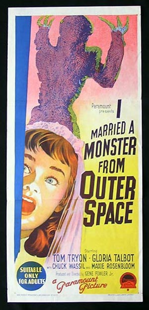 I Married a Monster from Outer Space, Gene Fowler Jr, Tom Tryon, Gloria Talbott, Peter Baldwin, Robert Ivers