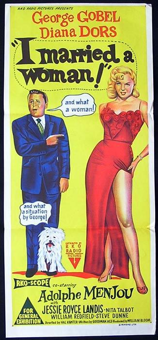 I MARRIED A WOMAN Original Daybill Movie Poster George Gobel Diana Dors
